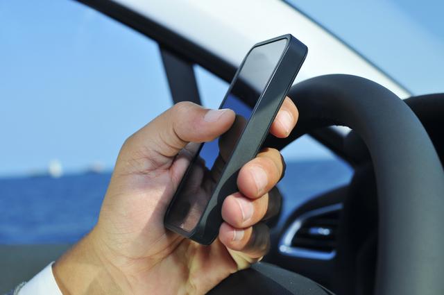 運転中の携帯操作
