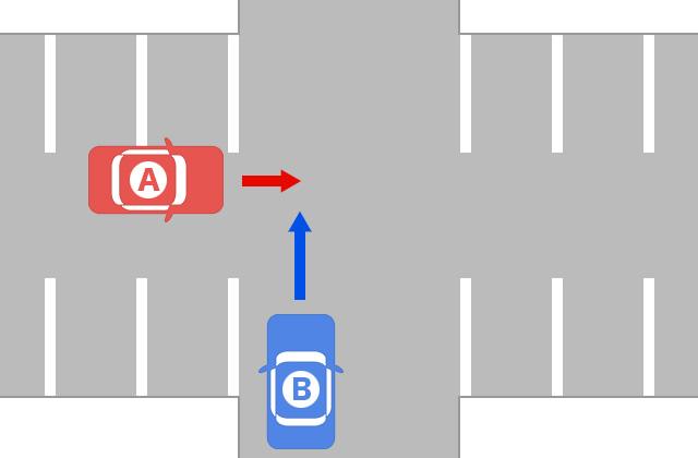 駐車場内の事故1