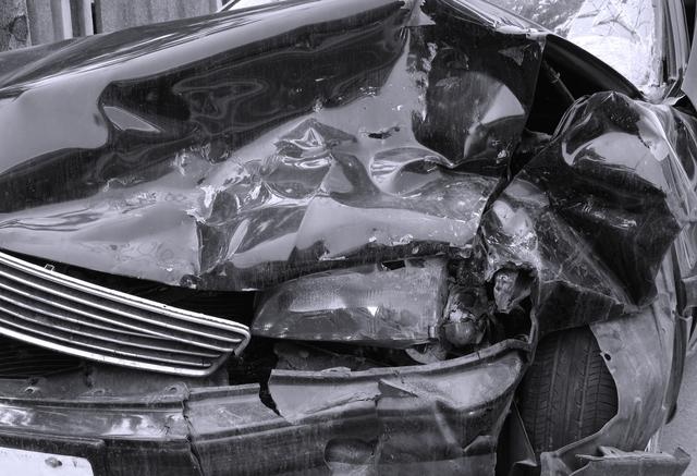 全損した事故車